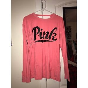 Victoria's Secret PINK open back logo tee sz M